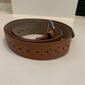 Accessories - Light Brown Patterned Belt